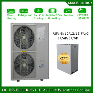 Poland-25c Cold Winter Floor Heating House100~350sq Meter Room12kw/19kw/35kw Auto-Defrost Evi Split Air Source Heat Pump Reviews pictures & photos