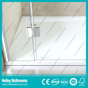 Hinger Door Modern Fashion Double Doors Selling Simple Shower Cubicle (SE710C) pictures & photos