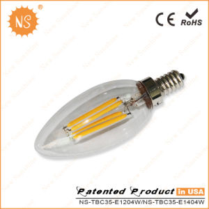 CE RoHS Ra90 400lm C35 4W LED Tungsten Filament Bulb pictures & photos
