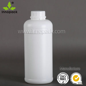 1 Liter White Round HDPE Plastic Bottle Olive Oil Bottle pictures & photos