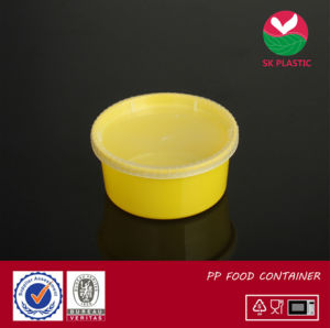 Round Plastic Food Container (AB1012 yellow) pictures & photos