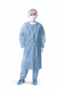 Disposable Non Woven Surgical Isolation Gown pictures & photos