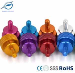 Anodized Hand/Thumb Screws, 6061 Aluminum Alloy Screw for Computer Chassis pictures & photos