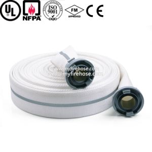 Double Jacket Canvas Fire Hydrant Hose Material Is PU pictures & photos