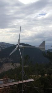 2kw Horizontal Wind Mill and Solar Cell Hybrid Project pictures & photos