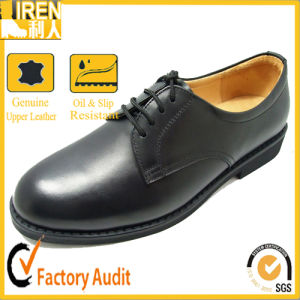 Genuine Cow Leather Cheap Price Black Police Shoes Military Balck Police Shoes pictures & photos