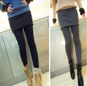 Women Sexy Soft Stretch Cotton Skirt Leggings (89526-1) pictures & photos