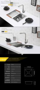 High Man Made Kitchen Stainless Steell Sink (5743S) pictures & photos