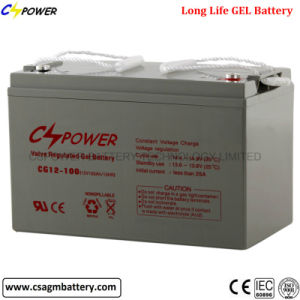 Storage Gel Battery 12V100ah for Solar Power 3years Warranty pictures & photos