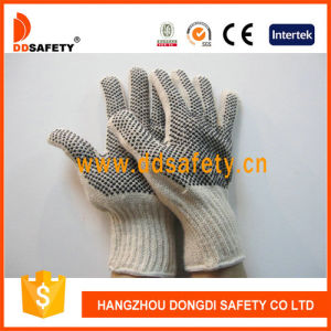 Ddsafety 2017 Knitted Black PVC Dots Both Sides Glove pictures & photos