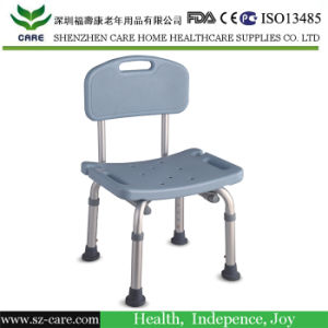 Home Care Aluminum Adjustable Bathroom Shower Chair with Armrest and Backrest pictures & photos