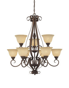 Hot Sale Chandelier with Glass Shade (1259RBZ)