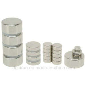Cylinder Sintered Neodymium Magnet N42 pictures & photos