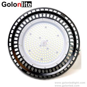 130lm/W Dimmable Sensor Waterproof 150W 100W 200W 250W UFO LED High Bay Light pictures & photos