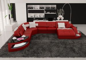 Living Room Furniture Sectional Modern Home Leather Sofa pictures & photos