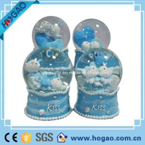 Resin Lovely Blue Sheep Snow Globe for Decoration pictures & photos