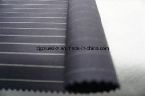 Strip Navy Wool Fabric of 100% Wool