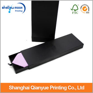 Customized Black Printing Drawer/Slide Tie Packaging Paper Box (QYCI15186)