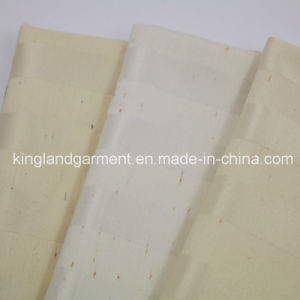Polyester Home Textile Inherently Flame Retardant Fireproof Cream Striped Curtain pictures & photos
