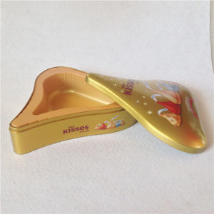 Water Drops Shaped Chocolate Tin Box Kisses Tin Box pictures & photos