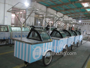 Xsflg Italian Ice Cream Gelato Display Cart for Sale (CE) pictures & photos