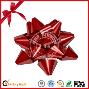 Red Lacquer Ribbon Star Bow for Wedding Car Decoration pictures & photos