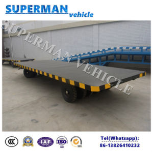 15t Flatbed Cargo Transport Industrial Drawbar Trailer pictures & photos