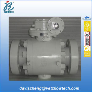 4 Inch Class 1500 Rtj Ends Bolted Cover A105 Trunnion Mounted Pipeline Ball Valves with Gearbox