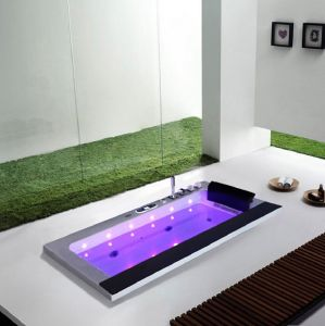 Rectangle Arylic Bathtub Indoor Bath Tub with Control Panel M-2049 pictures & photos