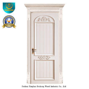 European Solid Wood Door with Carving for Interior (ds-044) pictures & photos