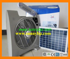"Unique16"" Rechargeable Solar Box Fan with LED Light pictures & photos"