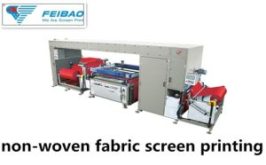 Fb-Nwf12010W The New Model Roll to Roll Non Woven Fabric Screen Printing Machine