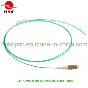 PVC/LSZH Jacket Multimode 50 Om3 LC PC Fiber Optic Pigtail pictures & photos