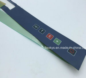 Embossing Silk Screen Printing Window and Metal Dome Membrane Switch