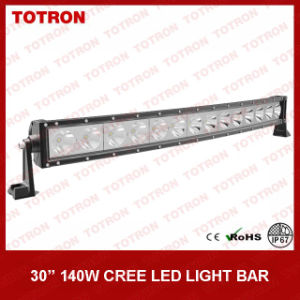 "29.5"" 140W High Quality Single Row CREE LED Light Bar for 4X4 with CE, RoHS, IP67 Certificated (TLB5140X)"