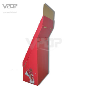 Valentine′s Day Cardboard Floor Display with Tiers for Greeting Cards pictures & photos