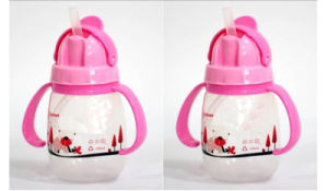 250ml Hot Sale Slide Lid Design Kids Water Bottle With Straw and Handle