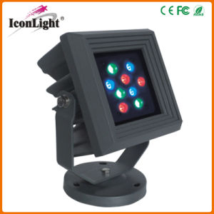Square Flat 9*1W LED Outdoor Garden Light for Landscape Lighting pictures & photos