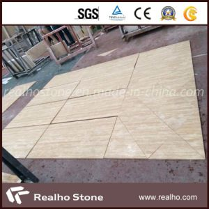 Polished and Filled Beige Travertine Tiles for Flooring pictures & photos