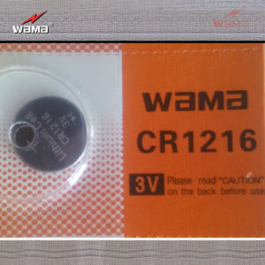 Wholesale 3V Cr1216 Lithium Button Cell Battery pictures & photos