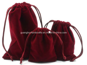 Nobel High Quality Red Velvet Jewellery Pouch pictures & photos