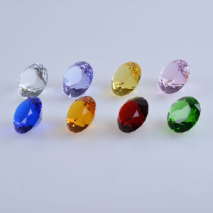 Colorful Machine Cut Crystal Diamond Paperweight Wedding Favor pictures & photos