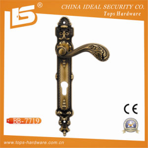 Classic Brass Door Lock Plate Handle (BB-7719) pictures & photos