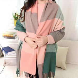 New Long Soft Scarves Grid Printed Shawl Lady Fashion Scarf pictures & photos