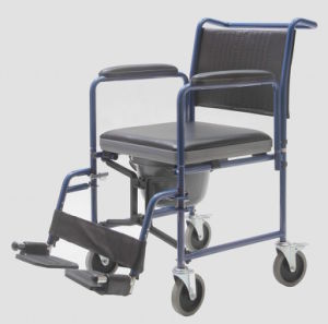 Steel, Foldable and with Wheels, Commode Chair, (YJ-7100C) pictures & photos