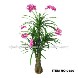 ornamental artificial indoor plants with red design