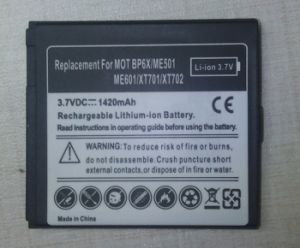 Replacement Cell Phone Battery for Motorola Bp6X pictures & photos