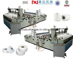 Full Automatic Rewinder Embossed Maxi Rolls Toilet Paper Informing Machine pictures & photos