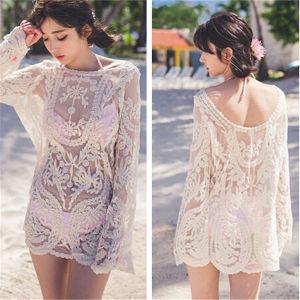 Korean Style Bikini Dress Shirt Blouse Beach Wears (50167) pictures & photos