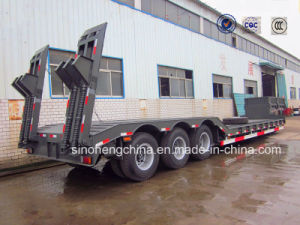 30 Ton Low Bed Flatbed Semi Truck Trailer 3 Axles pictures & photos